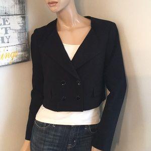WHBM crop Blazer Top Suit Jacket 4 Small Sm s